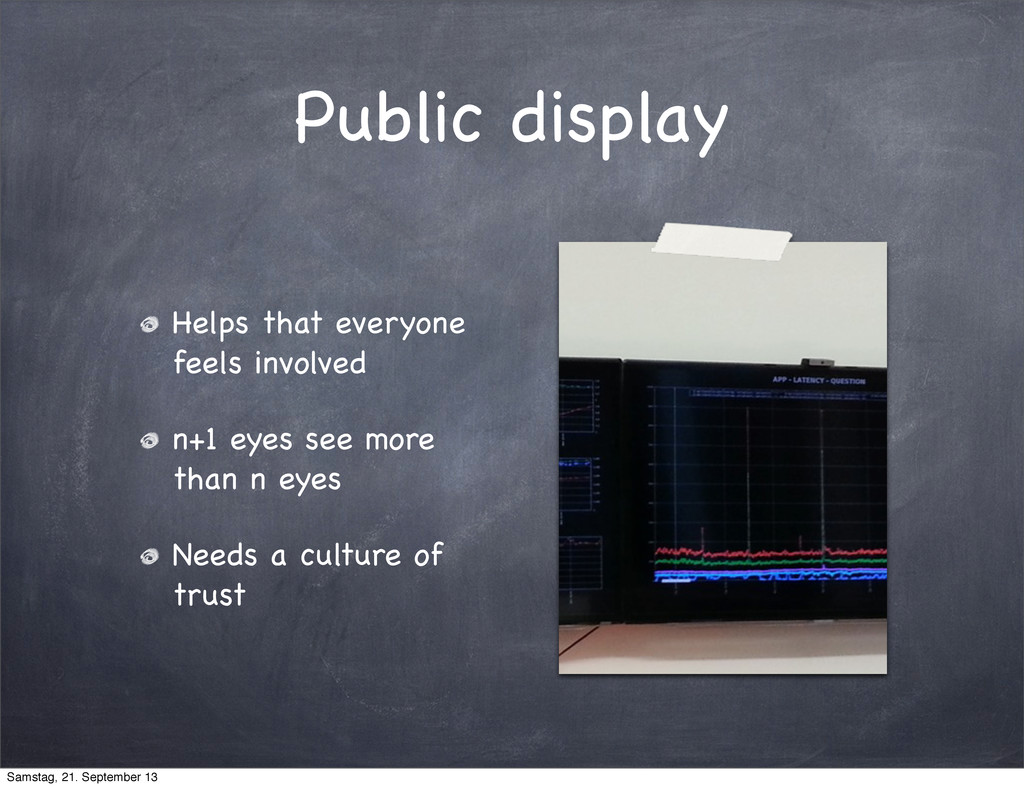 Public display Helps that everyone feels involv...