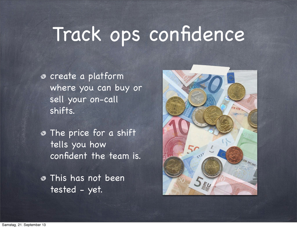 Track ops confidence create a platform where you...