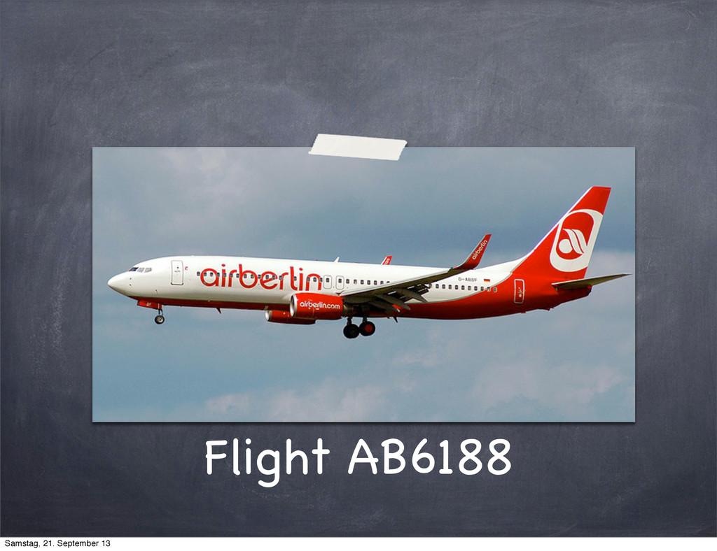 Flight AB6188 Samstag, 21. September 13