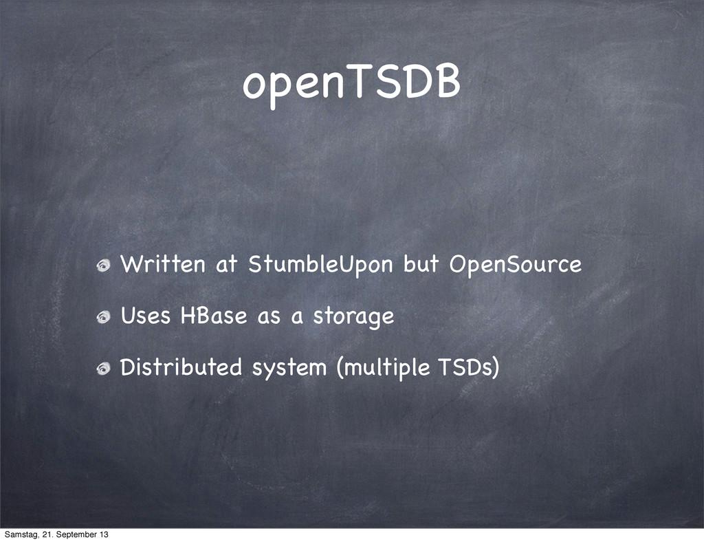 openTSDB Written at StumbleUpon but OpenSource ...