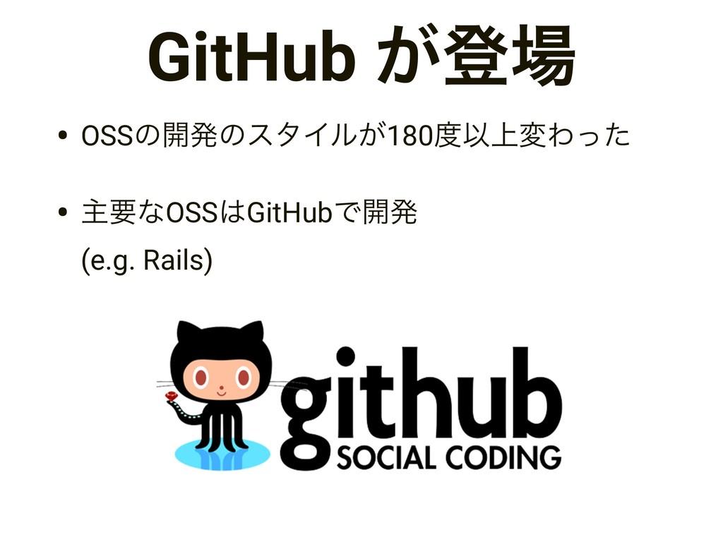 GitHub ͕ొ • OSSͷ։ൃͷελΠϧ͕180Ҏ্มΘͬͨ • ओཁͳOSSGi...