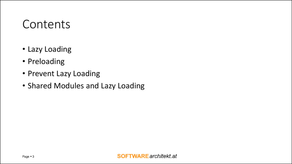 Contents • Lazy Loading • Preloading • Prevent ...
