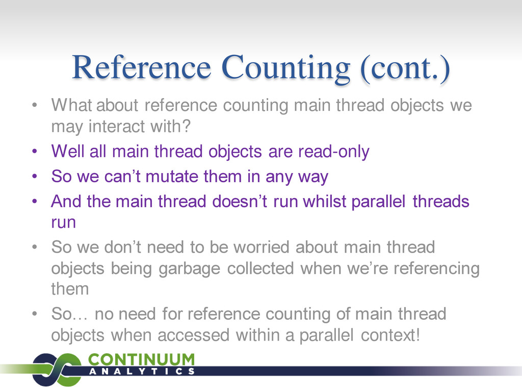 Reference Counting (cont.) • What about referen...