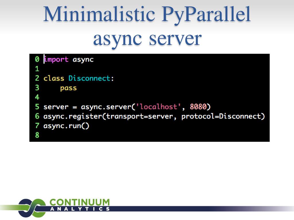 Minimalistic PyParallel async server
