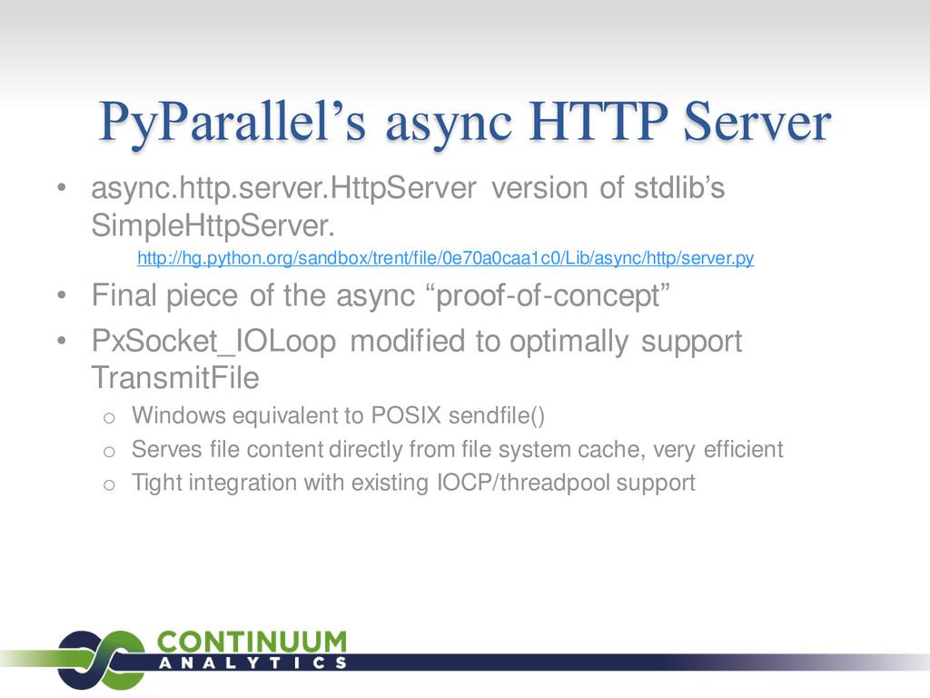 PyParallel's async HTTP Server • async.http.ser...