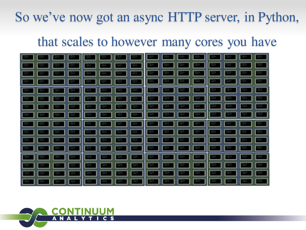 So we've now got an async HTTP server, in Pytho...