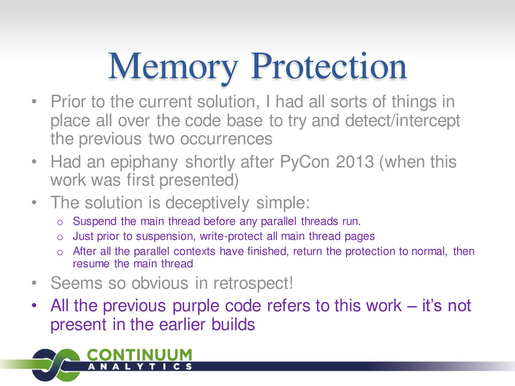 Memory Protection • Prior to the current soluti...