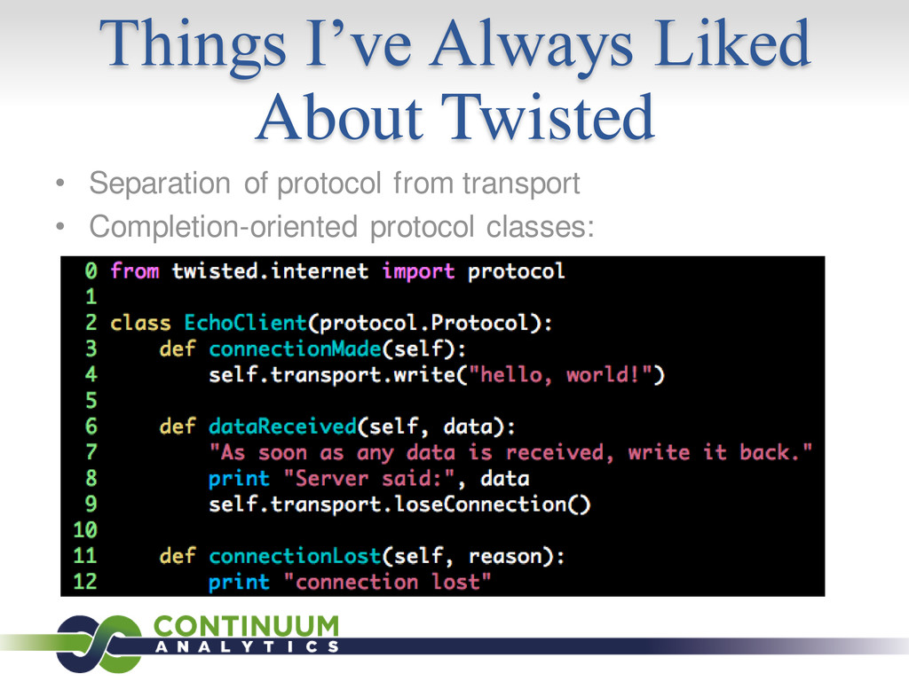Things I've Always Liked About Twisted • Separa...