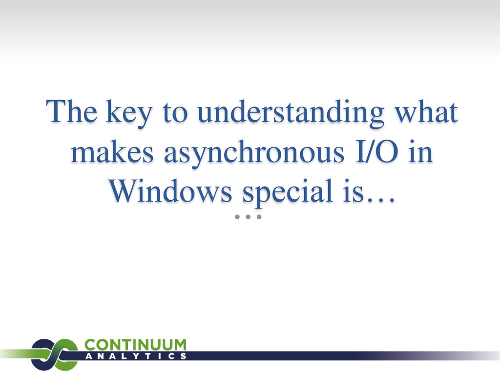 The key to understanding what makes asynchronou...
