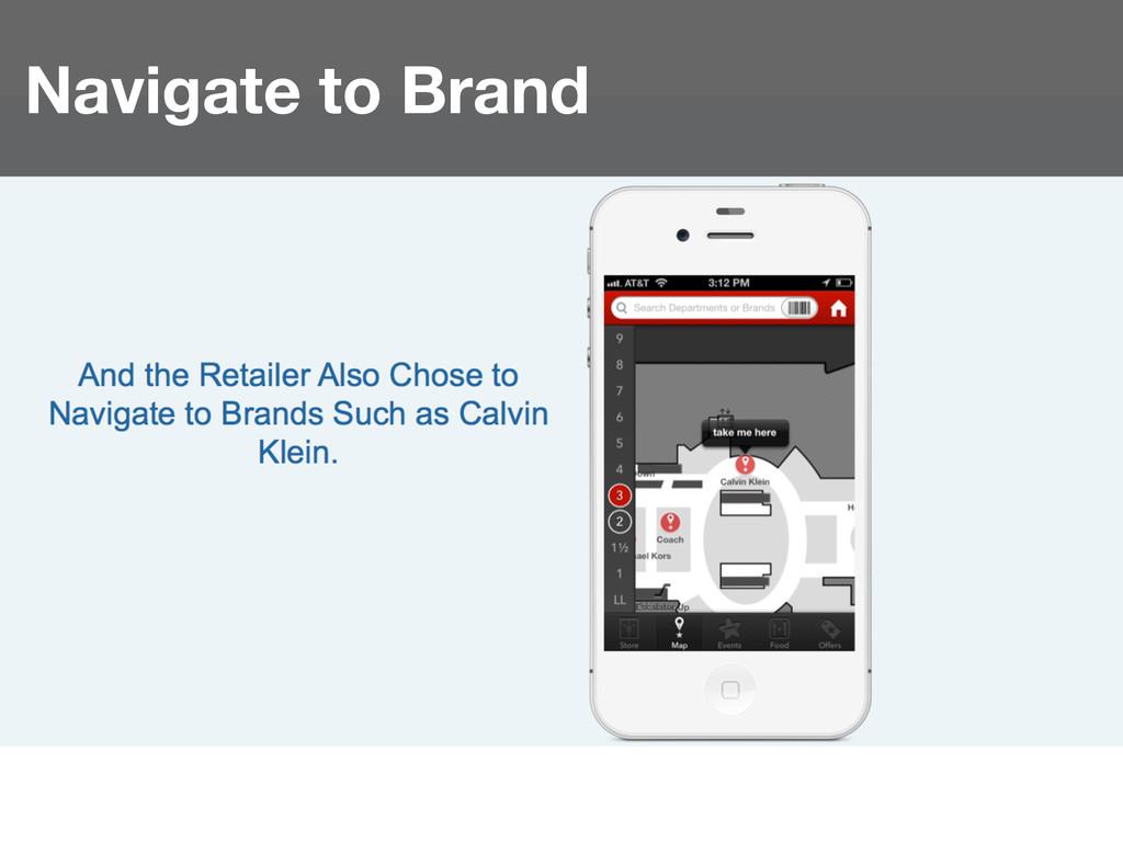 Navigate to Brand