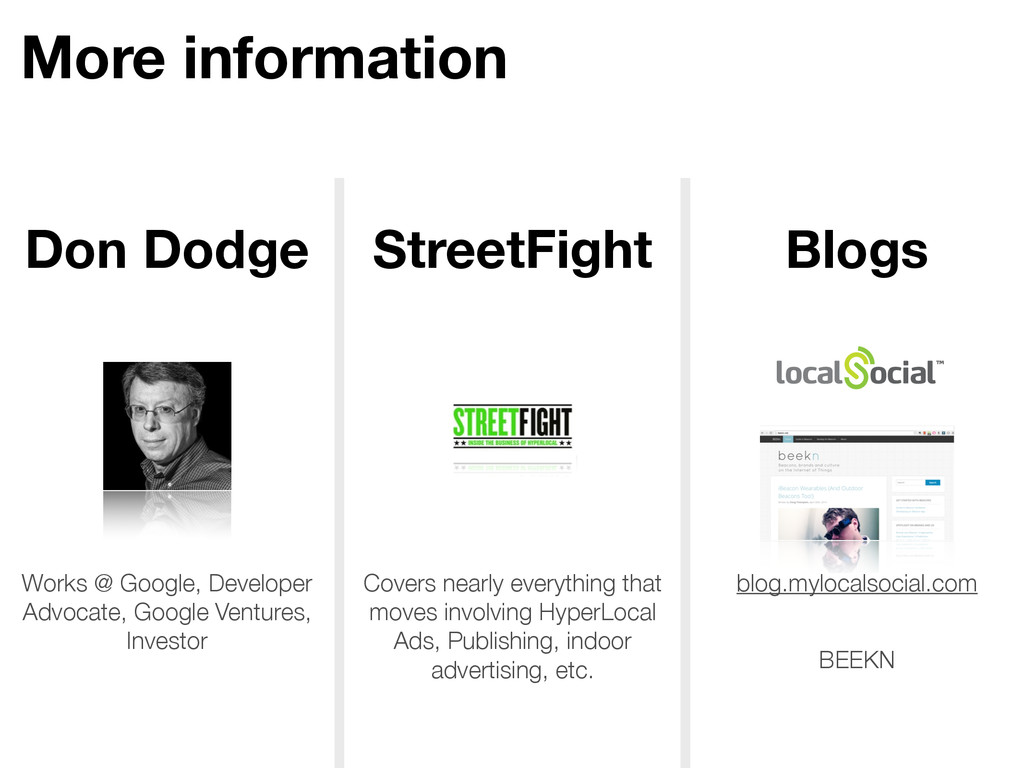More information Don Dodge StreetFight Blogs Wo...