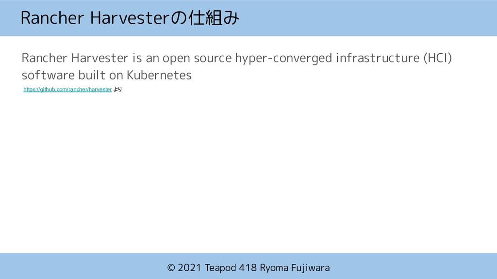 © 2021 Teapod 418 Ryoma Fujiwara Rancher Harves...