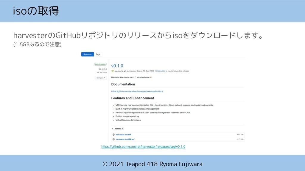 © 2021 Teapod 418 Ryoma Fujiwara isoの取得 harvest...