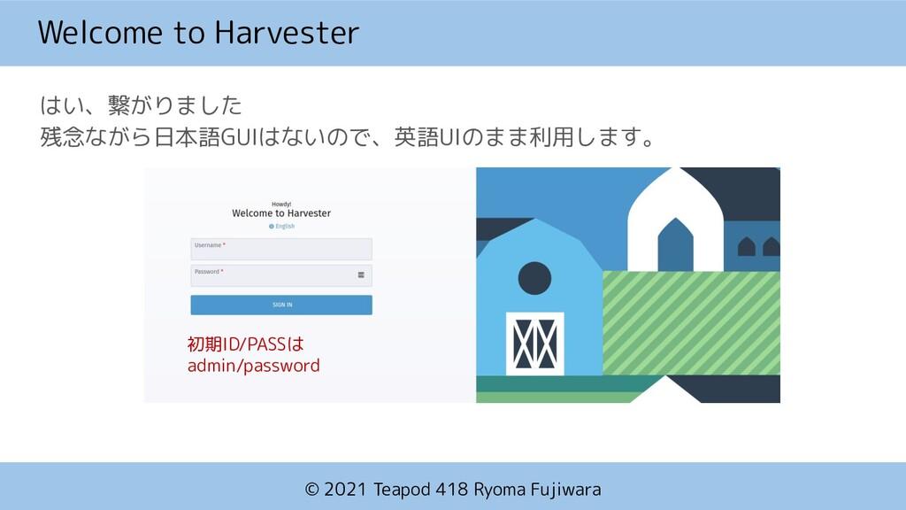 © 2021 Teapod 418 Ryoma Fujiwara Welcome to Har...