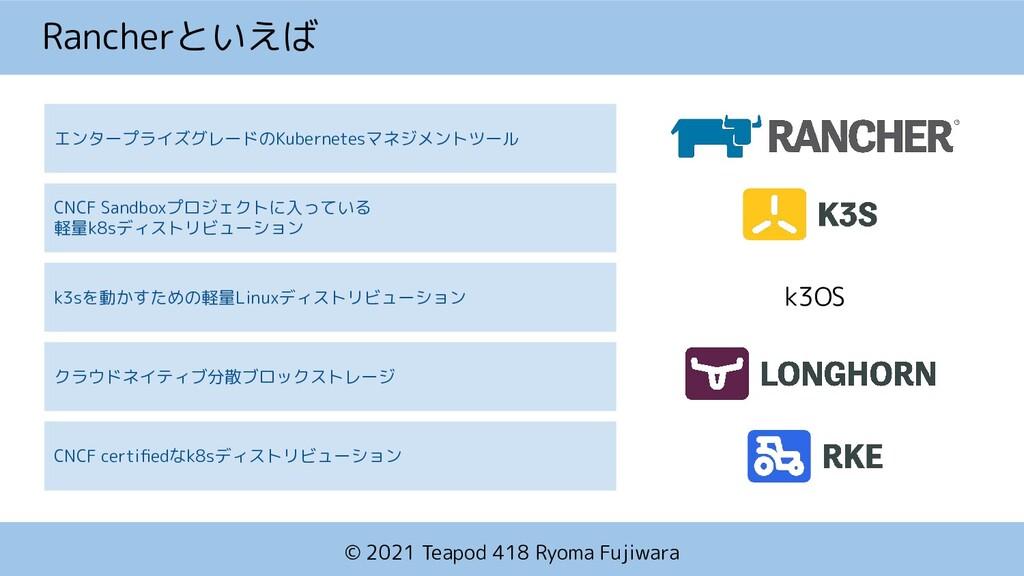 © 2021 Teapod 418 Ryoma Fujiwara エンタープライズグレードのK...