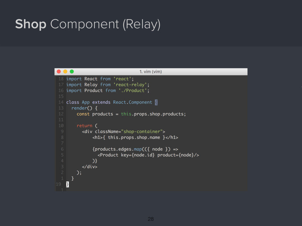 Shop Component (Relay) { 28
