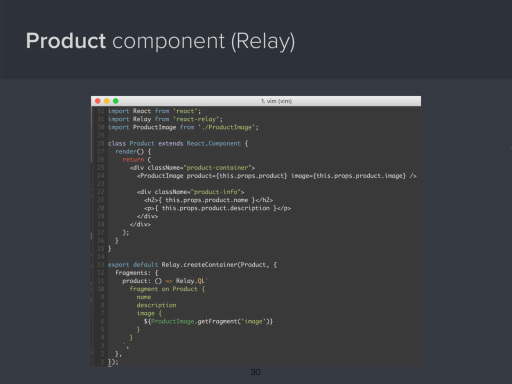 Product component (Relay) { 30