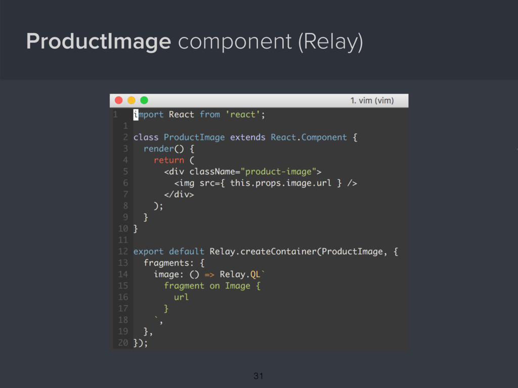 ProductImage component (Relay) { 31