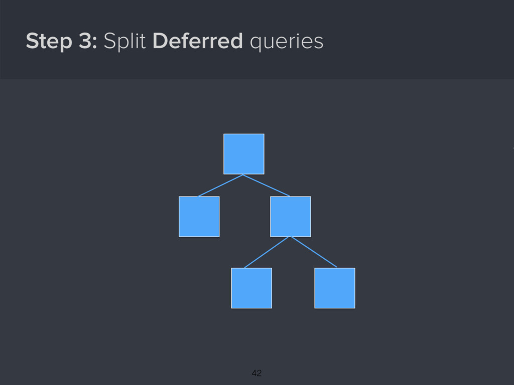 Step 3: Split Deferred queries { 42