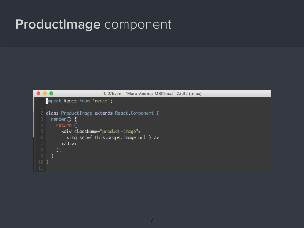 ProductImage component { 7