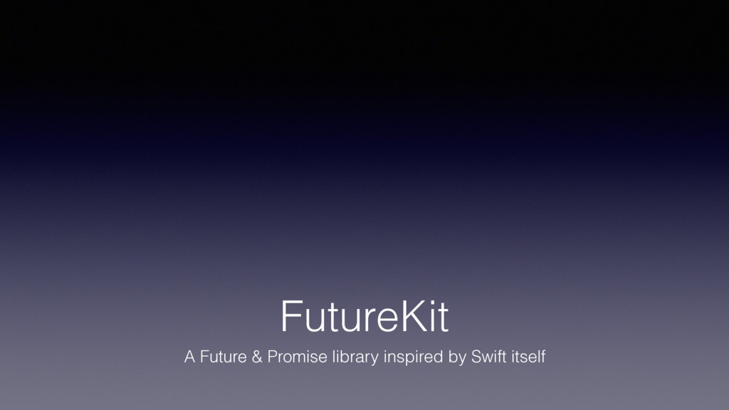FutureKit A Future & Promise library inspired b...