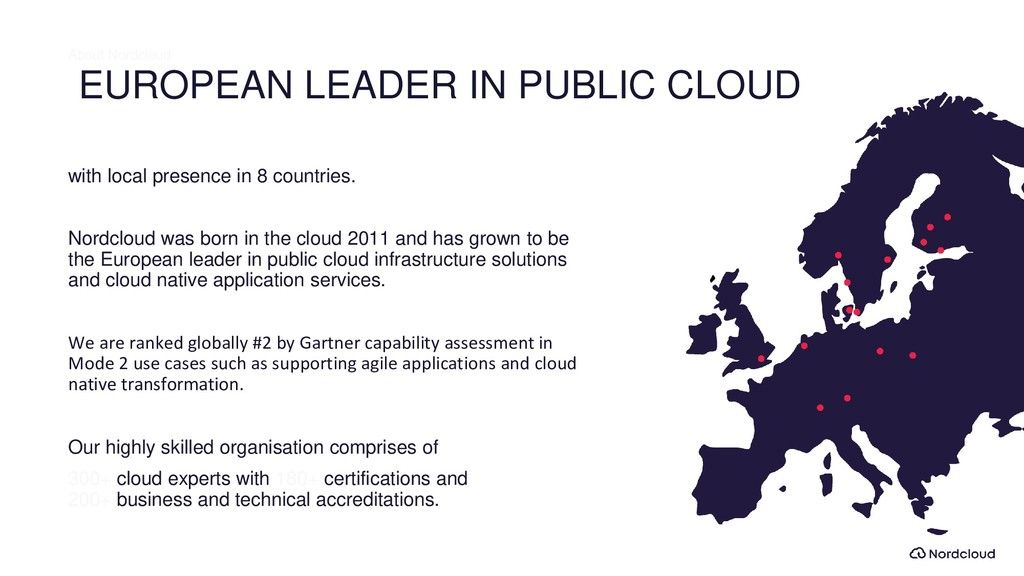 EUROPEAN LEADER IN PUBLIC CLOUD with local pres...