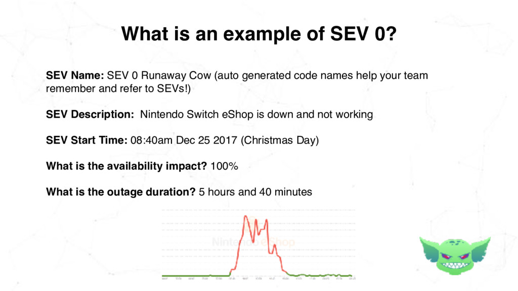 What is an example of SEV 0? SEV Name: SEV 0 Ru...