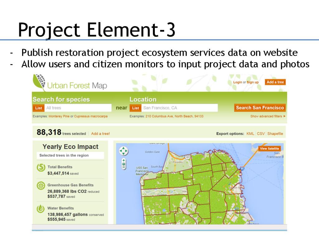 Project Element-3 - Publish restoration project...