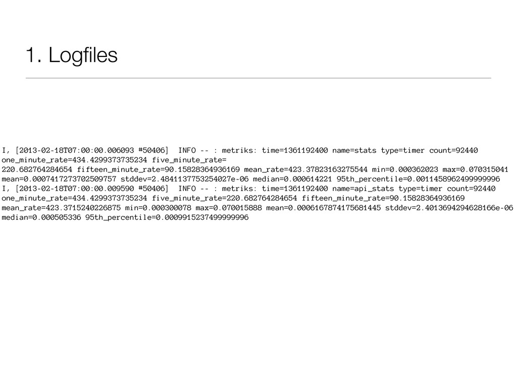 1. Logfiles I, [2013-02-18T07:00:00.006093 #5040...