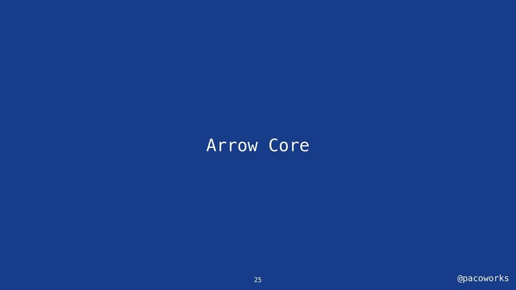 @pacoworks Arrow Core 25