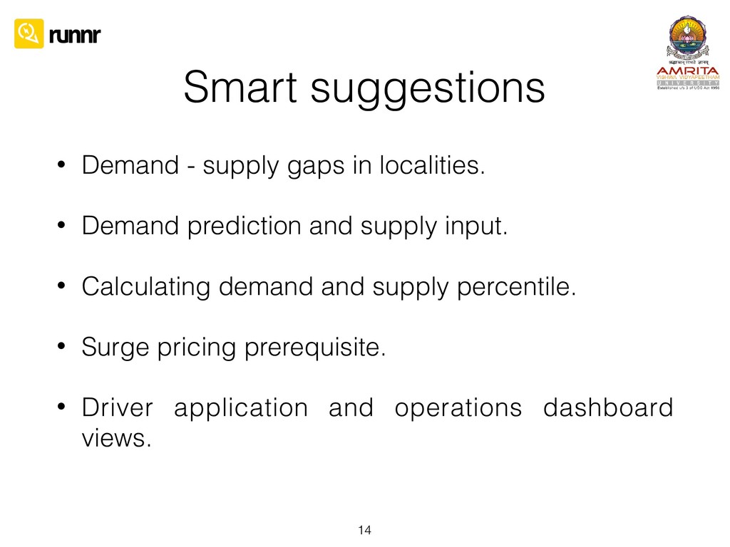 Smart suggestions • Demand - supply gaps in loc...