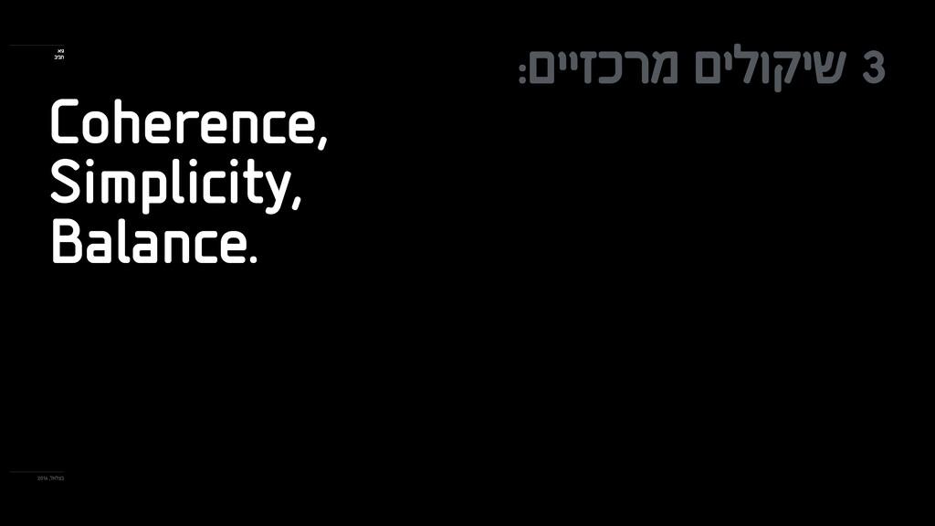 :םייזכרמ םילוקיש 3 Coherence, Simplicity, Balan...