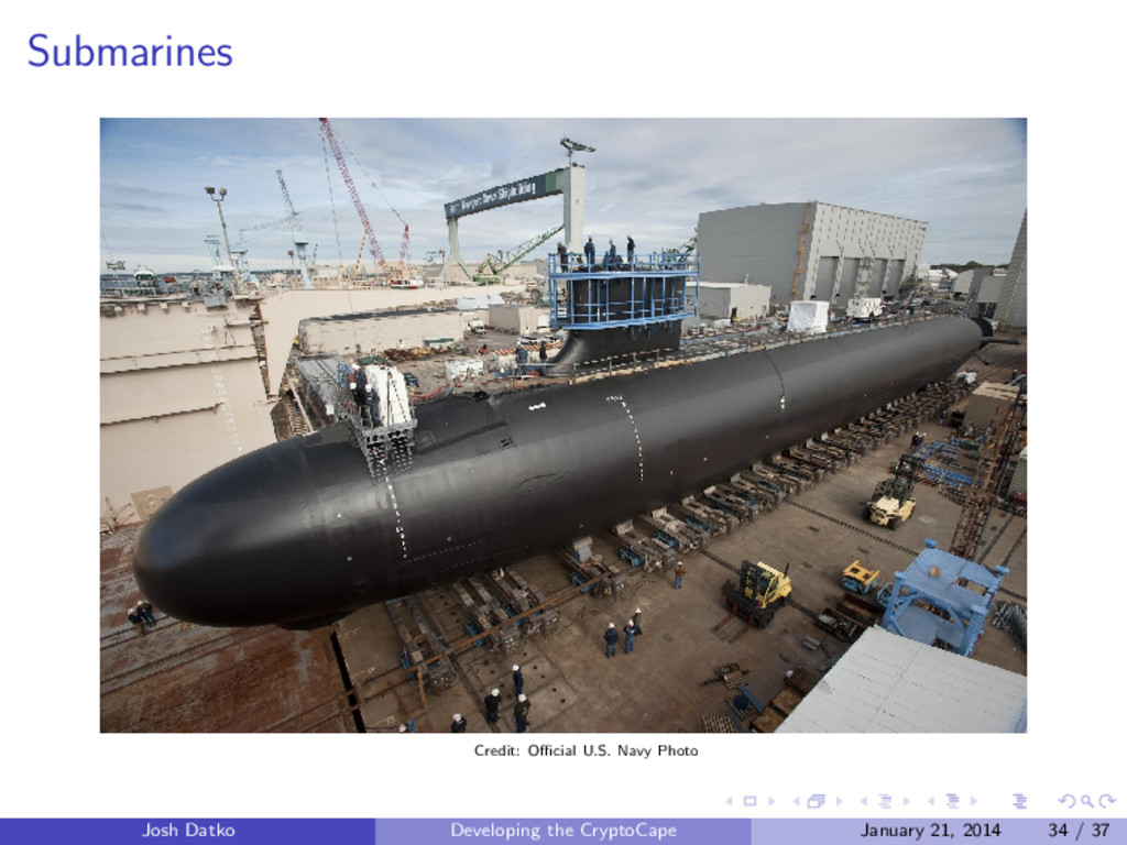 Submarines Credit: Official U.S. Navy Photo Josh ...
