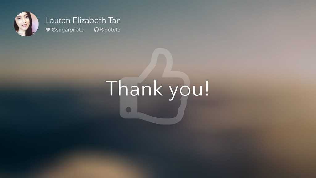 Thank you! Lauren Elizabeth Tan @sugarpirate_ @...