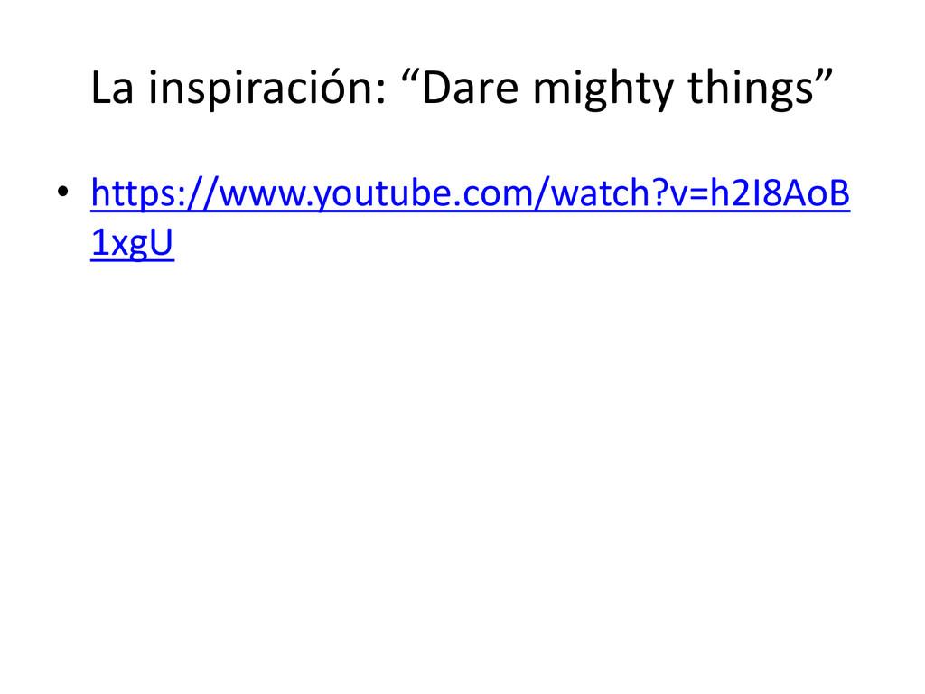 """La inspiración: """"Dare mighty things"""" • https://..."""