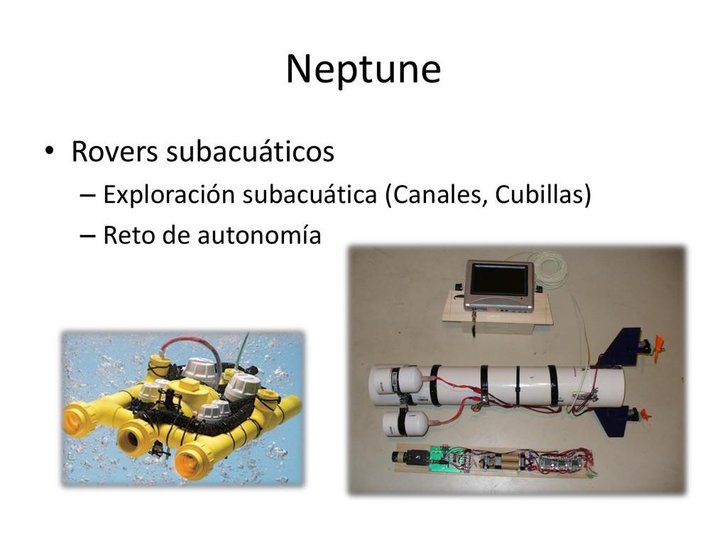 Neptune • Rovers subacuáticos – Exploración sub...