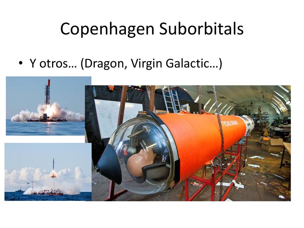 Copenhagen Suborbitals • Y otros… (Dragon, Virg...