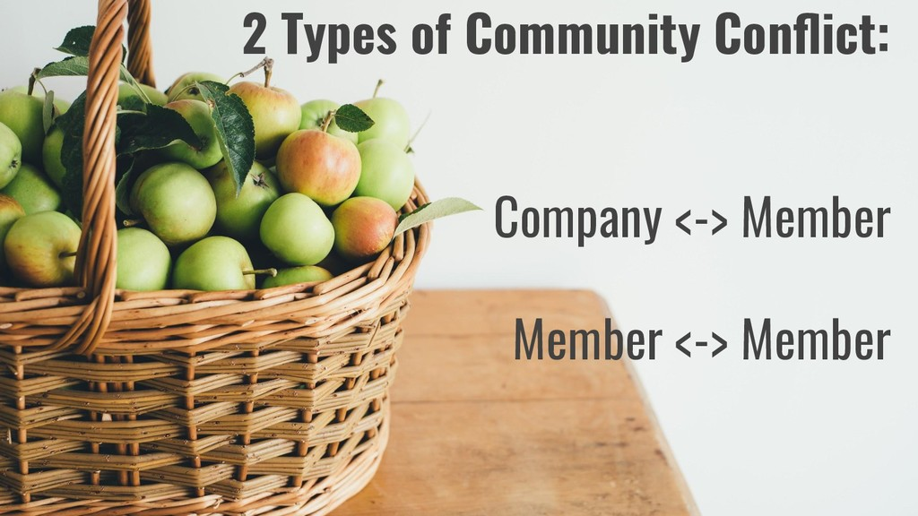 2 Types of Community Conflict: Company <-> Membe...