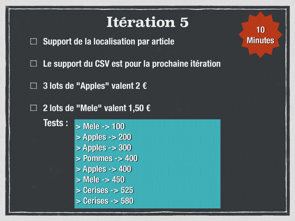 Itération 5 Support de la localisation par arti...