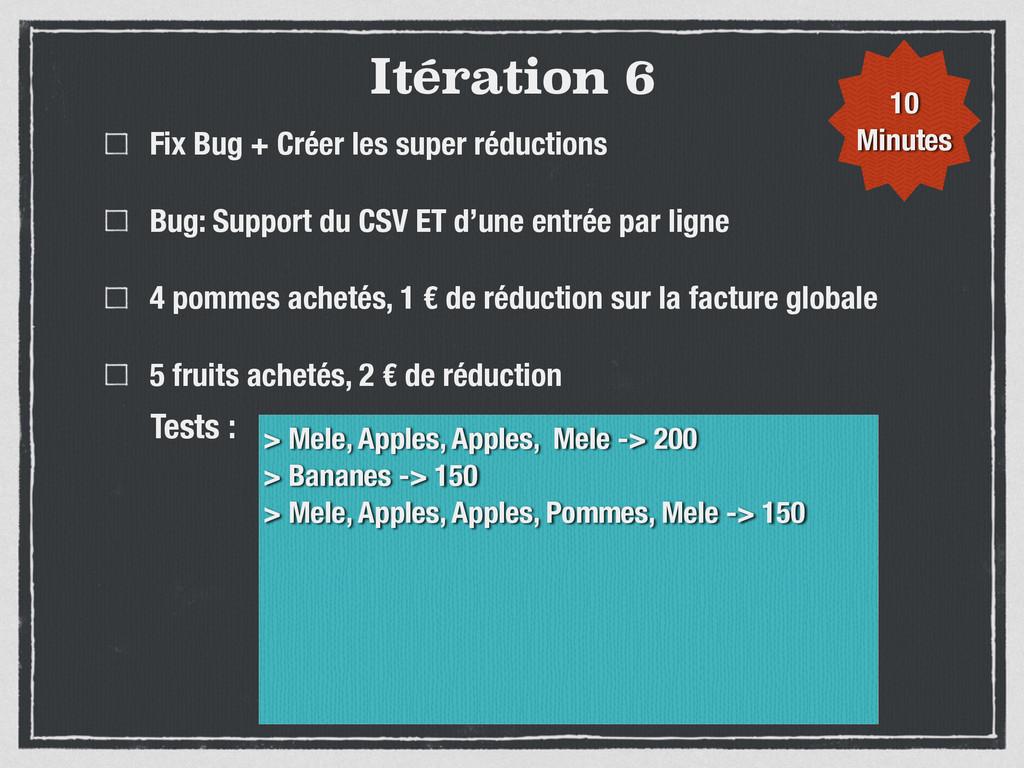 Itération 6 Fix Bug + Créer les super réduction...