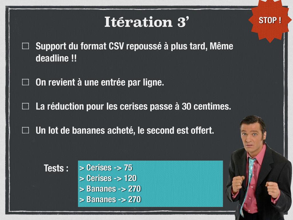Itération 3' Support du format CSV repoussé à p...