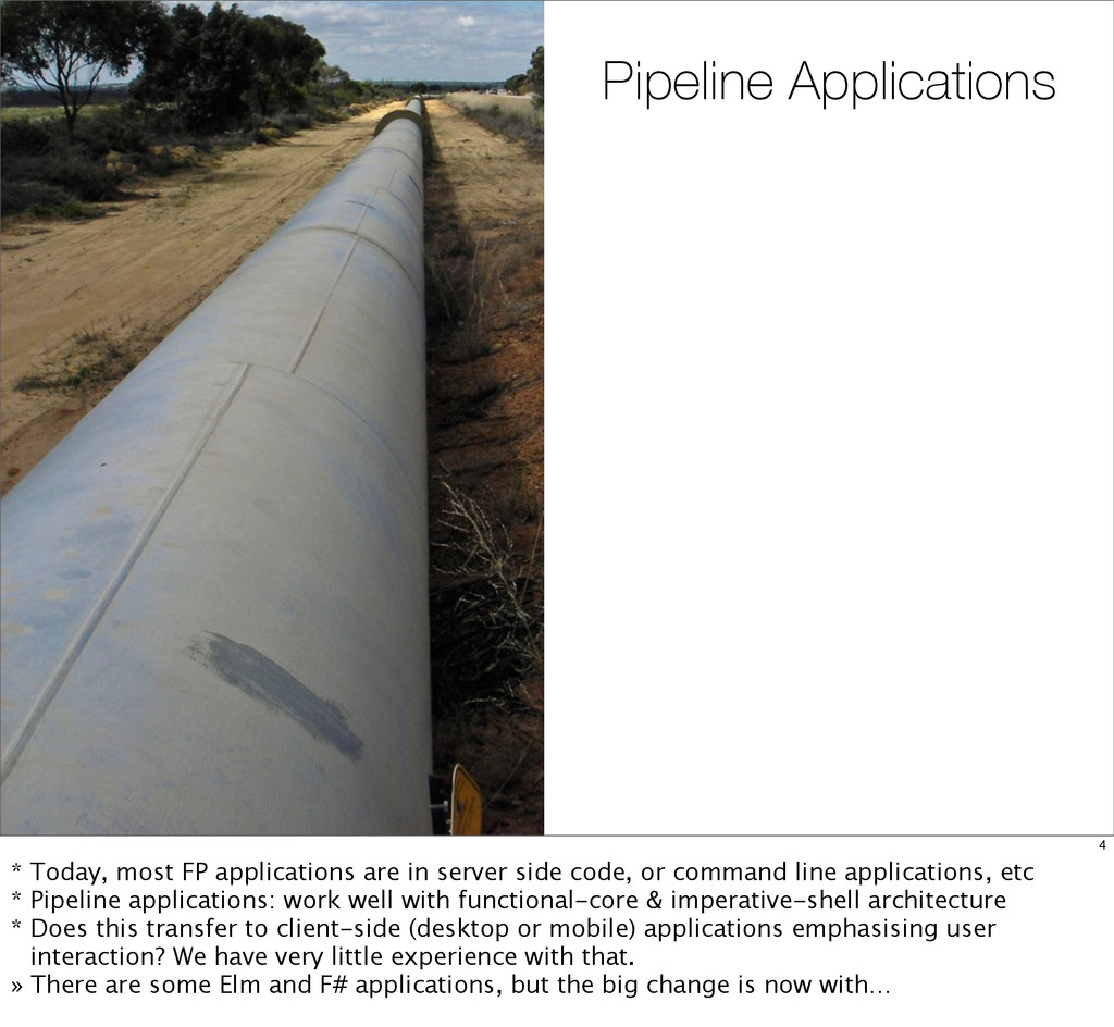 Pipeline Applications 4 * Today, most FP applic...