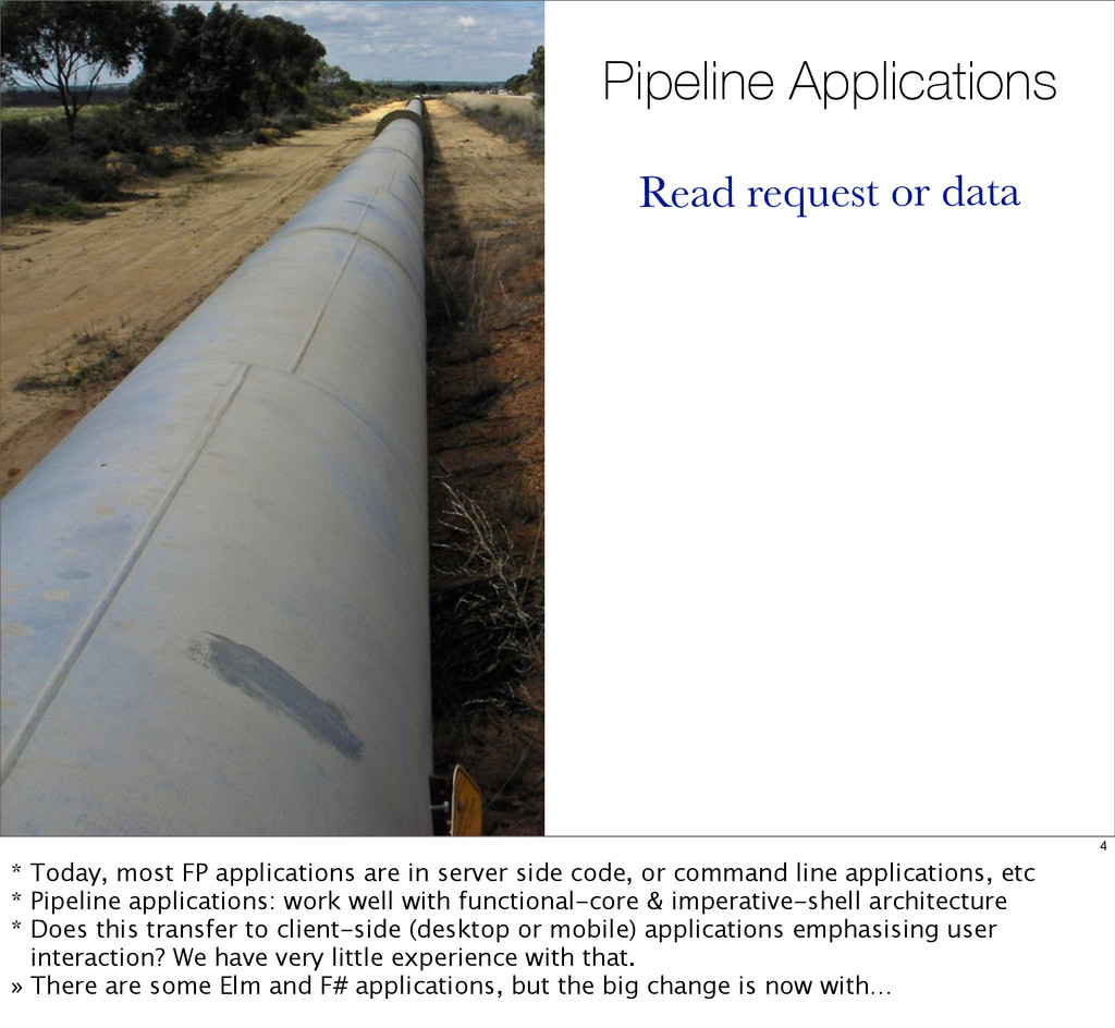 Pipeline Applications Read request or data 4 * ...