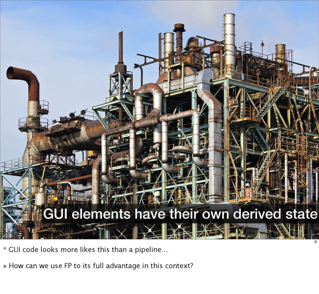GUI elements have their own derived state 6 * G...