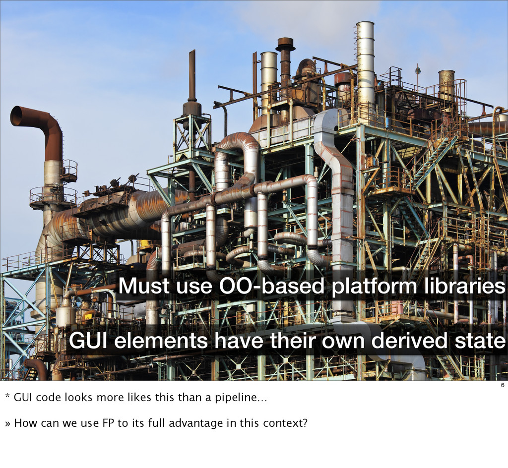 GUI elements have their own derived state Must ...
