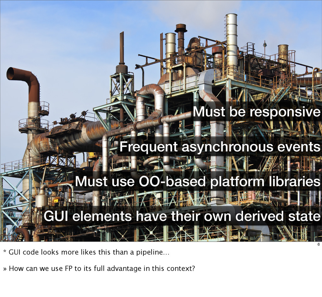 Frequent asynchronous events Must be responsive...