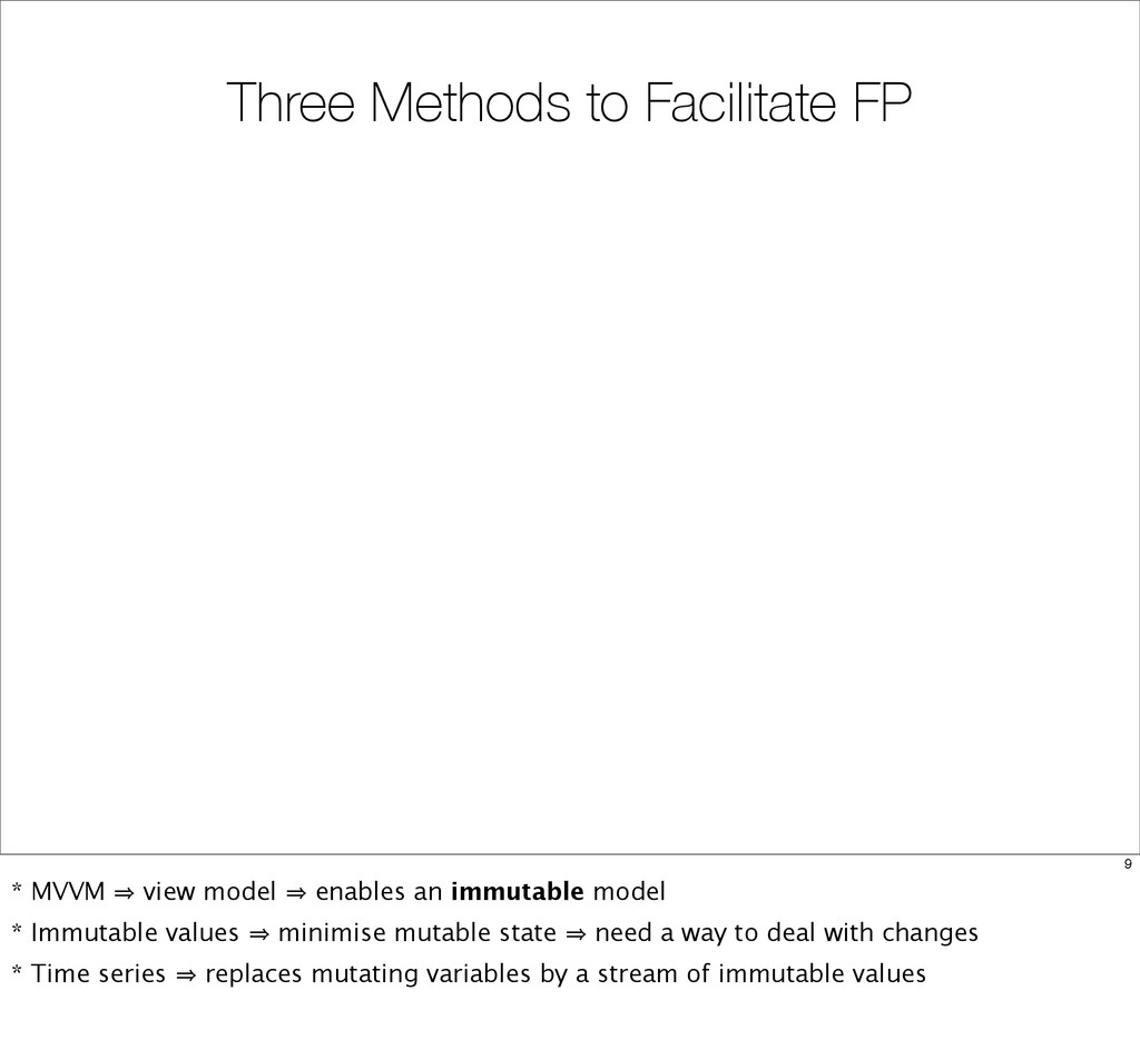 Three Methods to Facilitate FP 9 * MVVM 㱺 view ...