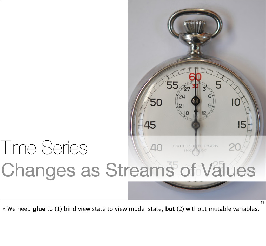 Time Series Changes as Streams of Values 19 » W...