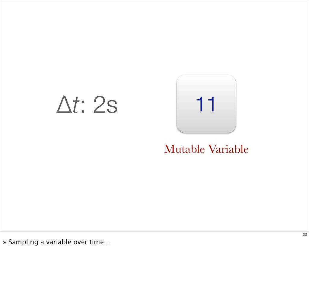 11 Δt: 2s Mutable Variable 22 » Sampling a vari...