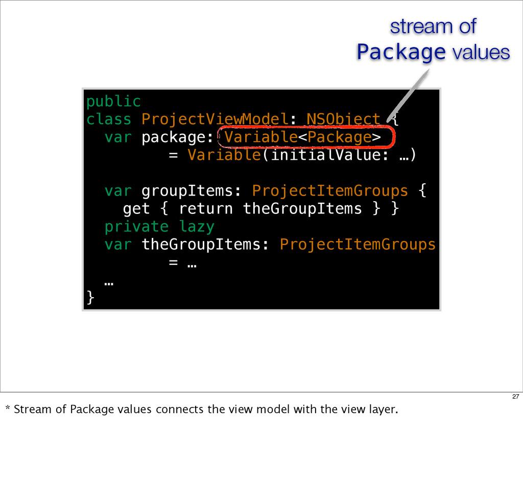 public class ProjectViewModel: NSObject { var p...